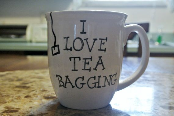 Tea Cup, Coffee Mug- I Love Tea Bagging! Funny Quote on Etsy, $13.69 CAD