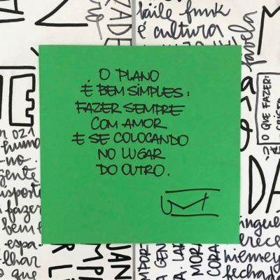 <p><br /> O plano é simples: fazer sempre com amor e se colocando no lugar do outro.</p>