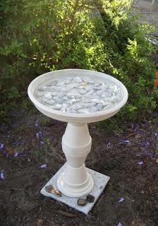 hide: Update: Belt Chair & Terra Cotta Bird Bath