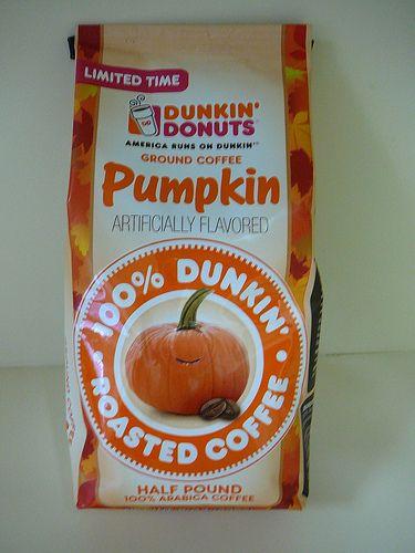 dunkin donuts ground pumpkin coffee - Google Search