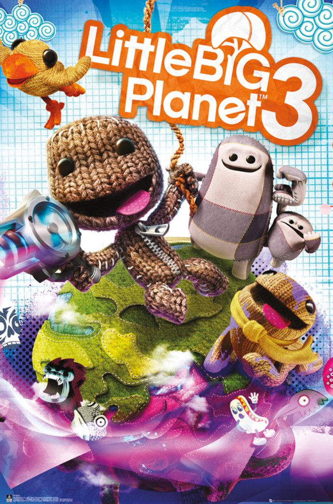 Little Big Planet 3 Cover - Official Poster. Official Merchandise. Size: 61cm x 91.5cm. FREE SHIPPING