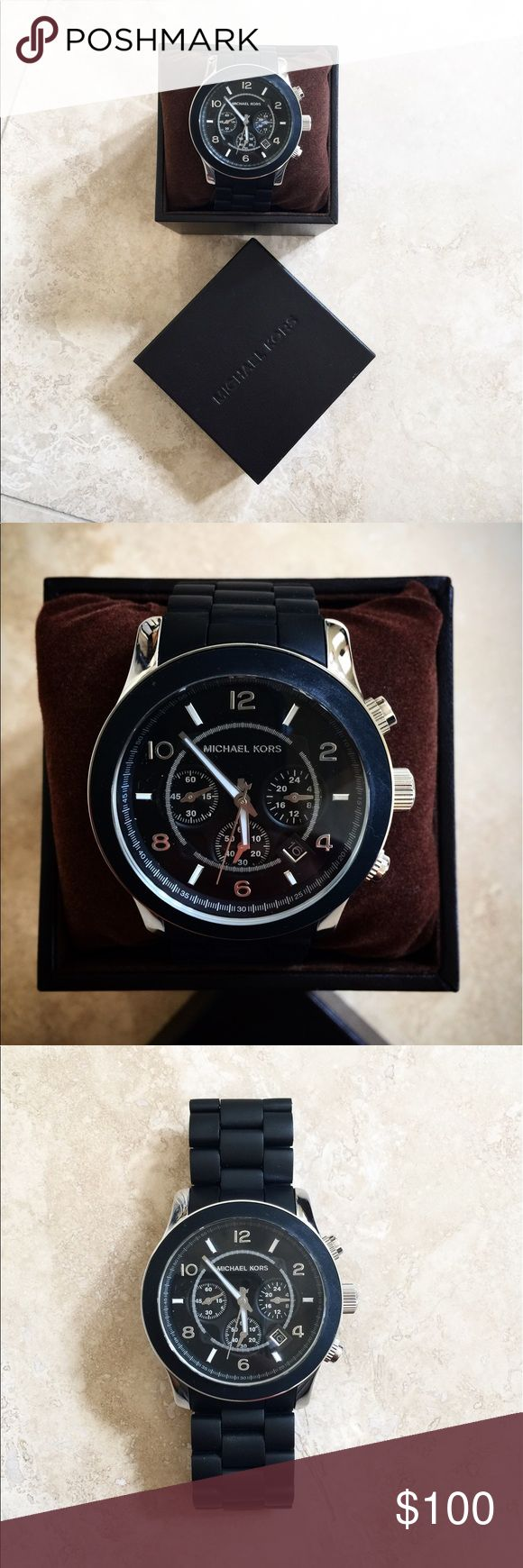Men's Michael Kors Runway Watch Men's Michael Kors Runway Watch in all black. My husband never ending up wearing it, it's brand new. Michael Kors Accessories Watches