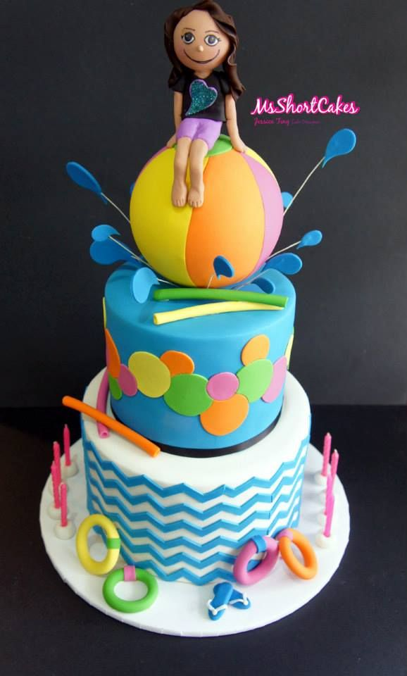 Girly Pool Party Cake