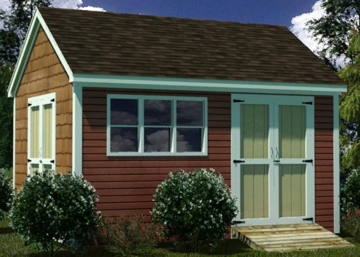 12 x 16 shed plans, use as chicken coop with a grain storage room
