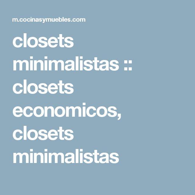 closets minimalistas :: closets economicos, closets minimalistas