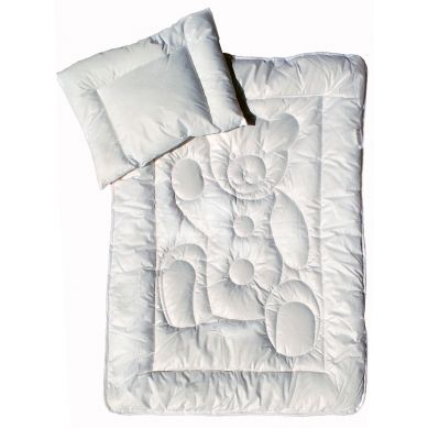 Zestaw do łóżeczka poduszka i kołdra antyalergiczna Miś