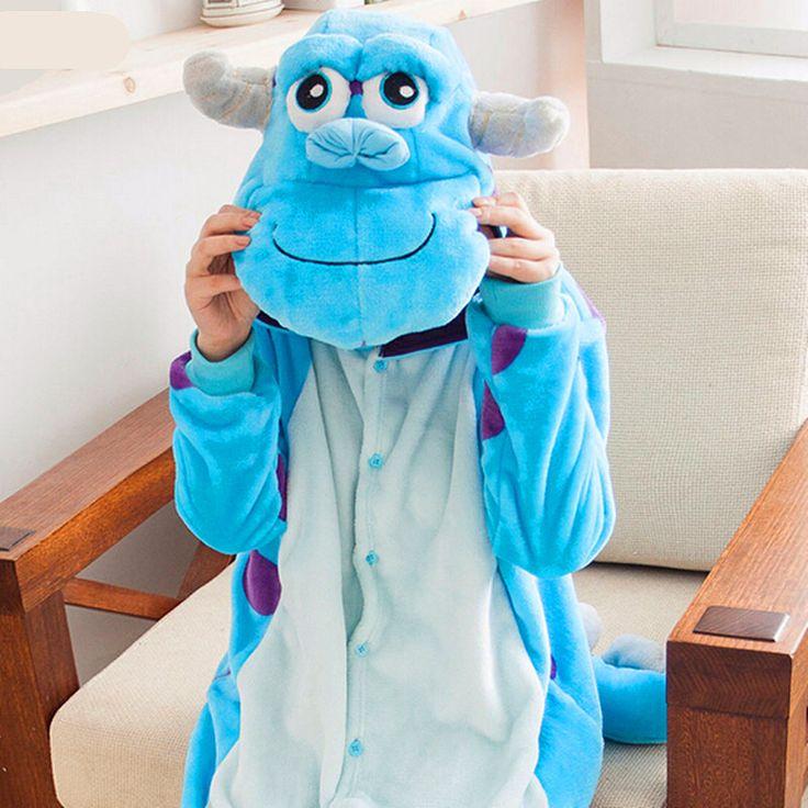 Monster University Sullivan Onesies Pajamas Cartoon Costume Cosplay Pyjamas Adult Animal Home Clothing Flannel Pajamas