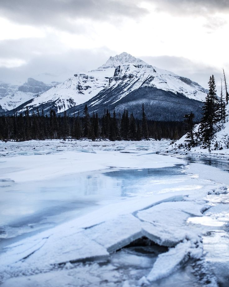 standing on a frozen saskatchewan river. banff. alberta. - Processed with VSCO with s2 preset