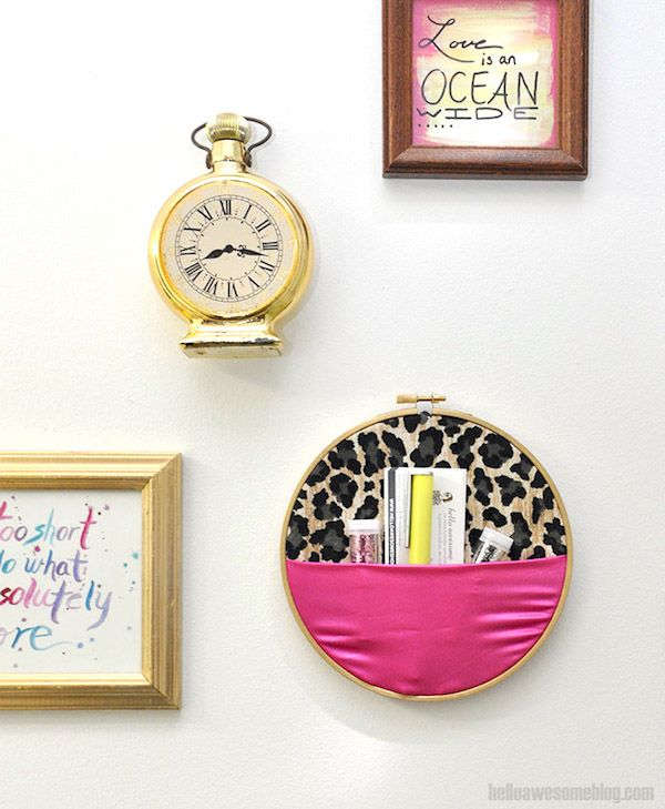 No sew embroidery hoop wall organizer fabrics super