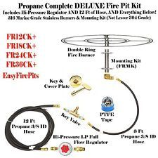 Best 25 propane fire pit kit ideas on pinterest diy propane fr24ck 316 stainless 24 fire ring complete deluxe wood to propane fire pit kit solutioingenieria Choice Image