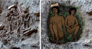 The earliest evidence of using flower beds for burial, dating back to 13,700 years ago, was discovered in Raqefet Cave in Mt. Carmel, during excavations led by the University of Haifa. In four different graves from the Natufian period, dating back to 13,700-11,700 years ago, dozens of impressions of Salvia plants and other species of sedges and mints (the Lamiaceae family), were found under human skeletons.