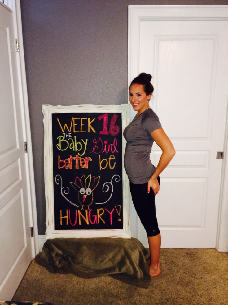 16 weeks pregnant! #babygirl #16weekspregnant #chalkboard ...