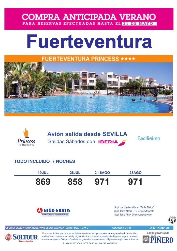 30% Compra Anticipada. Hotel Fuerteventura Princess salidas desde Sevilla ultimo minuto - http://zocotours.com/30-compra-anticipada-hotel-fuerteventura-princess-salidas-desde-sevilla-ultimo-minuto/
