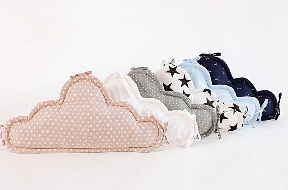 Short cloud pillow, additional pillow for a baby cradle/crib bumper, cot bumper,