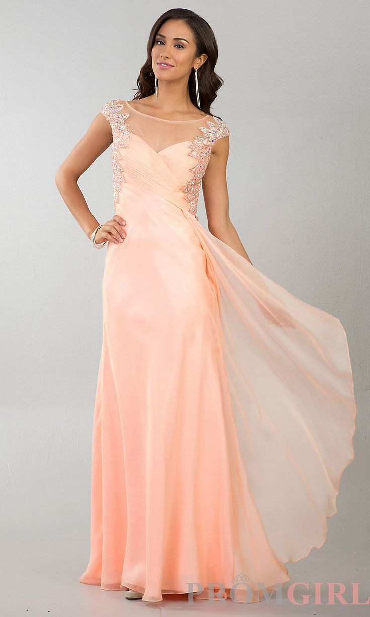 Funky Peach Dresses For Prom Image Collection - Wedding Dress Ideas ...
