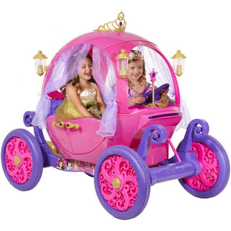 Disney Princess Carriage 24V Ride-On Girls Rideon Pumpkin Pink Cinderella #DisneyPrincess