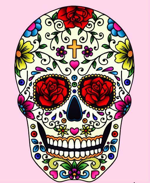 rose negli occhi sugar skull