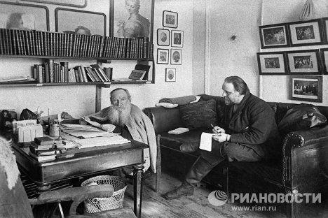 Л.Толстой и В.Чертков в Ясной Поляне