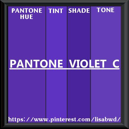 PANTONE SEASONAL COLOR SWATCH PANTONE  VIOLET  C
