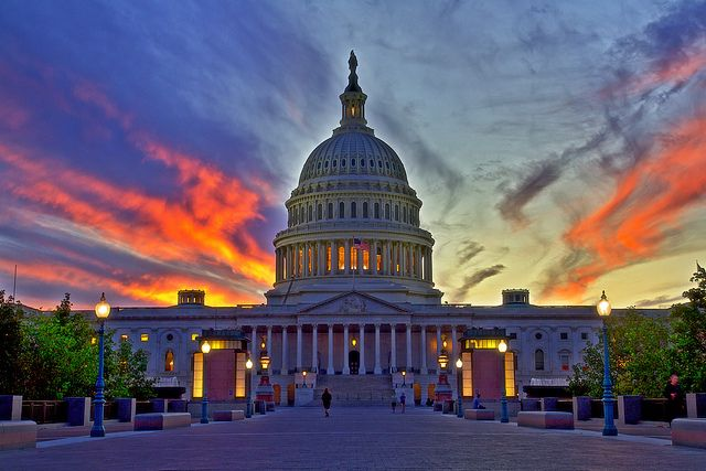 Love the sunset colors. Capitol building, DC: Capitol Ideas, Photo