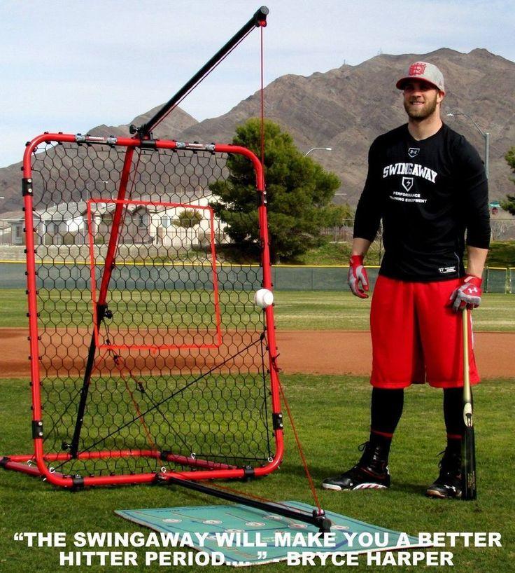 SwingAway Baseball Practice Hitting Station Bryce Harper MVP Limited Edition Back In Stock  #Swingaway