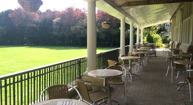 Veranda at Westone Manor Hotel, Northampton. Perfect for afternoon tea in the summer.