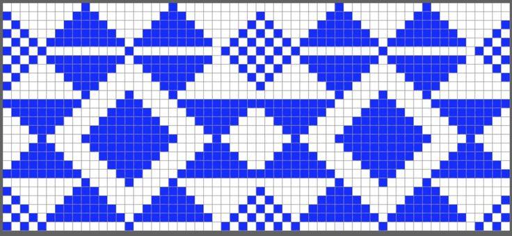 Colores bolso de ganchillo azul diagrama