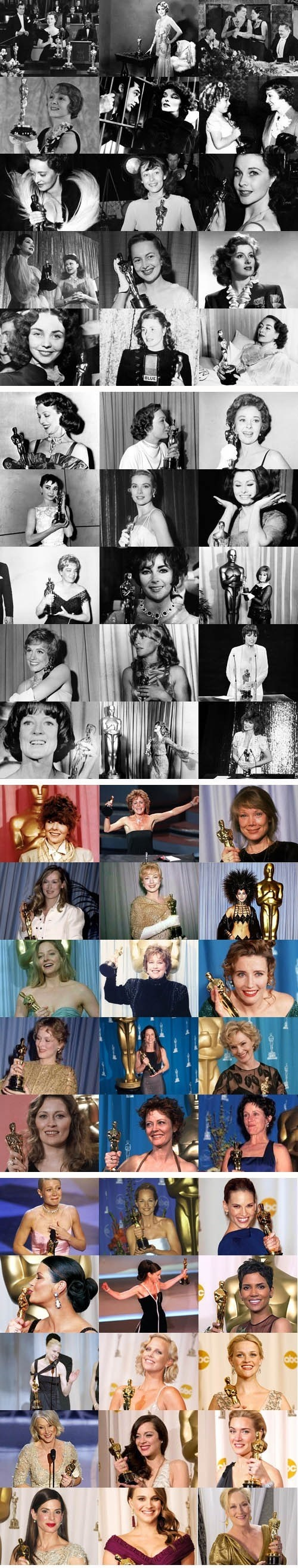 Oscar Winners for Best Actress - Can You Name Them All?
