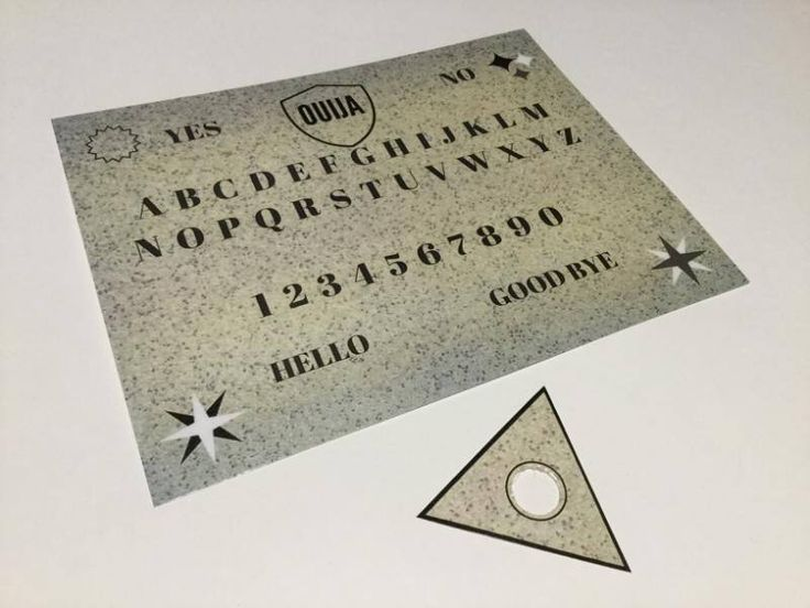 A personal favorite from my Etsy shop https://www.etsy.com/ca/listing/591444879/ouija-board