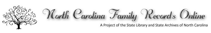 North Carolina Family Records Online  (Family Tree Best State Websites)