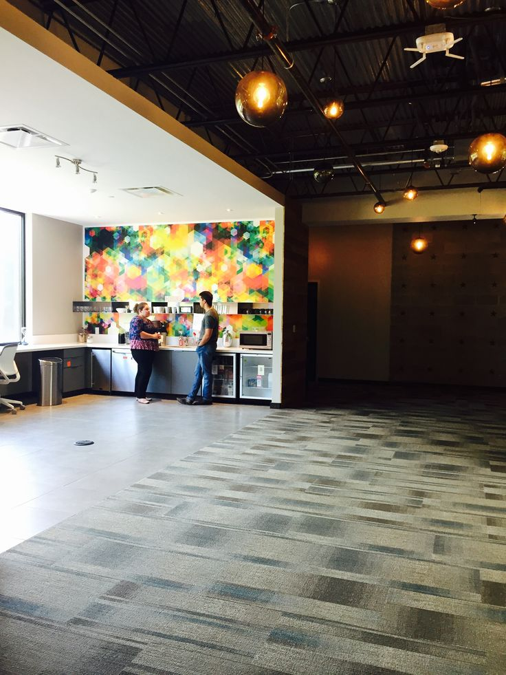 Our fun splash of color at Link Flex from Link CoWorking #design