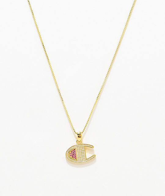 b2e8791a40d71 Champion Heritage Logo Gold Pendant Necklace | Wish List | Gold ...