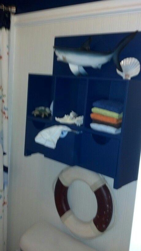 Cute shelf repainted   Shark BathroomShelfShelvesShelving. 32 best Neal Bathroom images on Pinterest   Kid bathrooms  Shark