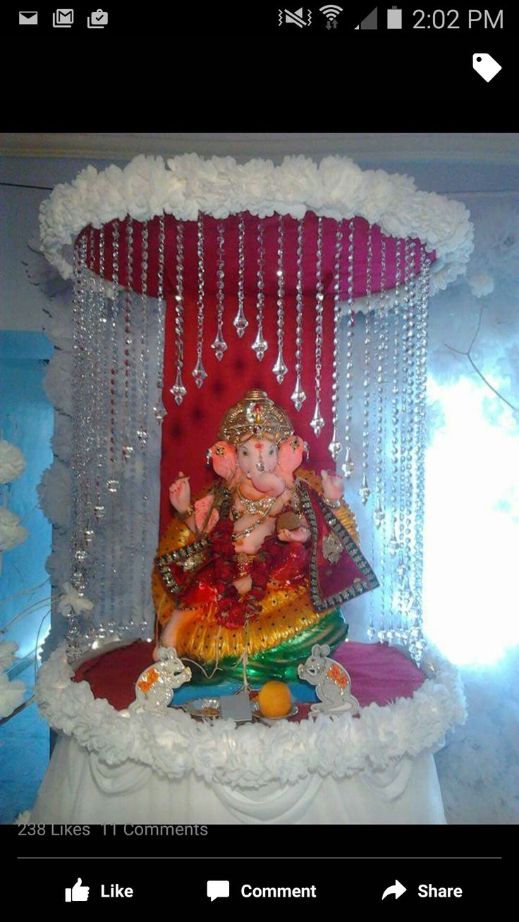 53 best images about Ganapati Decoration  ideas  on Pinterest