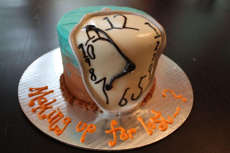 A Salvador Dali Melting Clock Cake