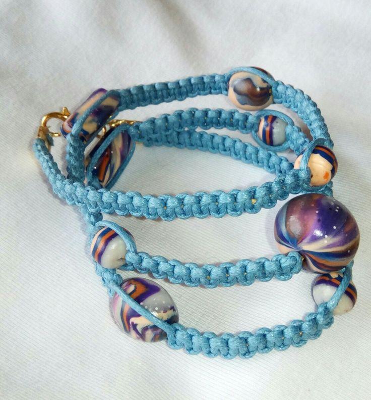 Bracelet 52 cm. Handmade beads.