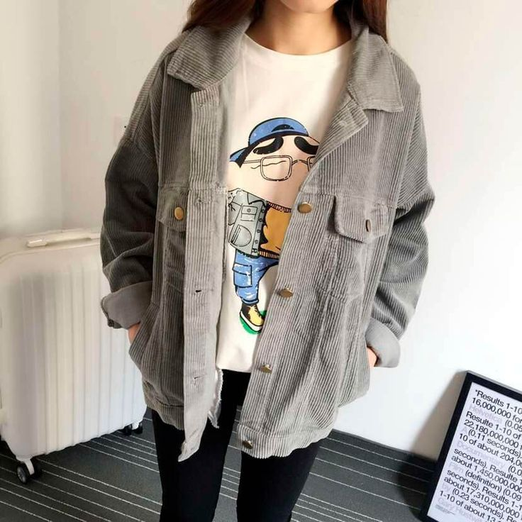 corduroy jacket at online store. Kawaii Cheap clothing as aesthetic, ulzzang, harajuku, tumblr, pastel grunge style. Free delivery worldwide. Fast USA shipping