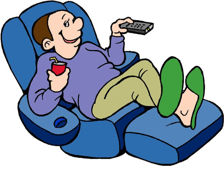 Couch potato when sports are on