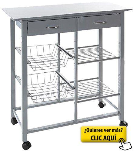 Muebles auxiliares con ruedas mueble bajo auxiliar con ruedas foto del mueble para tienda de - Amazon mesa auxiliar cocina ...