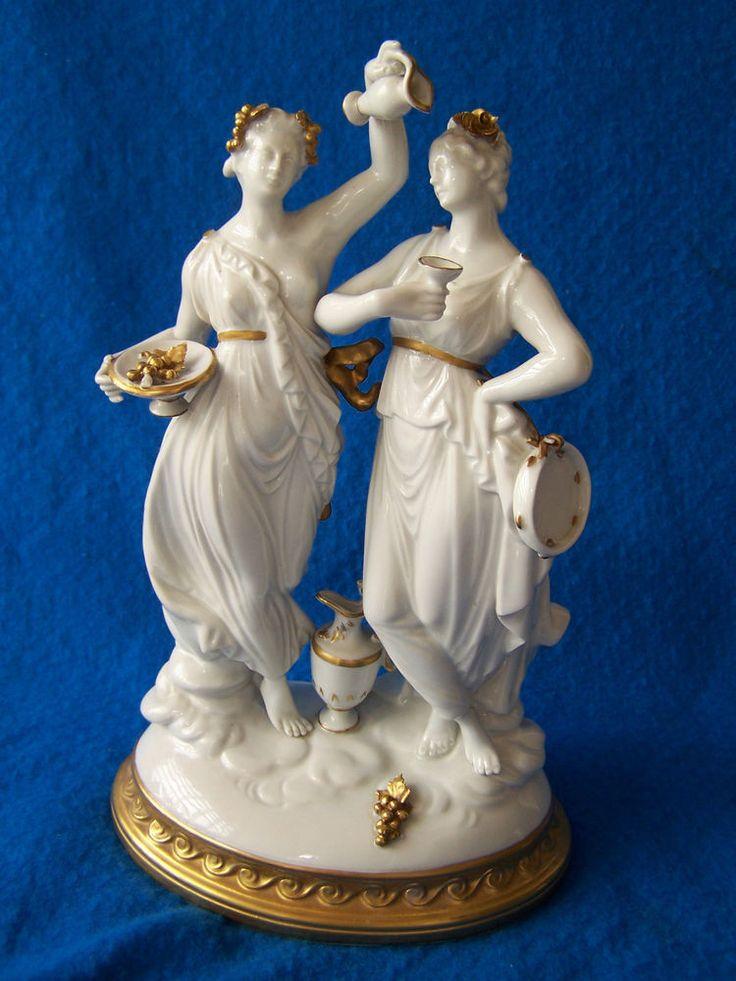 Doppelfigur zwei Frauen Porzellanfiguren Rudolstadt defekt