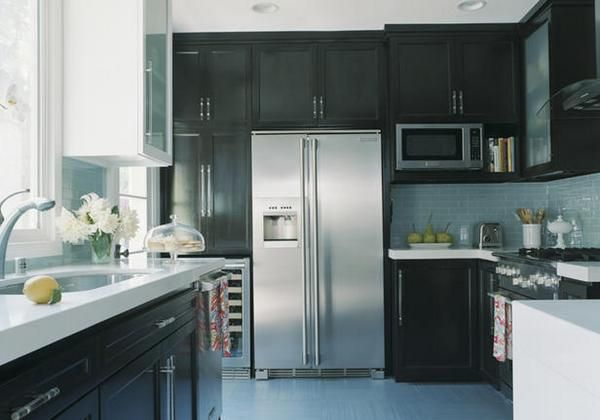 black Kitchen Remodel Ideas W Island | Solid wood kitchen cabi florence ii - sunflower kitchen decor tile ...