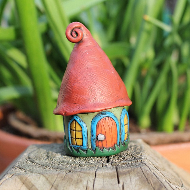 Green Faerie House Front by suzicq, via Flickr
