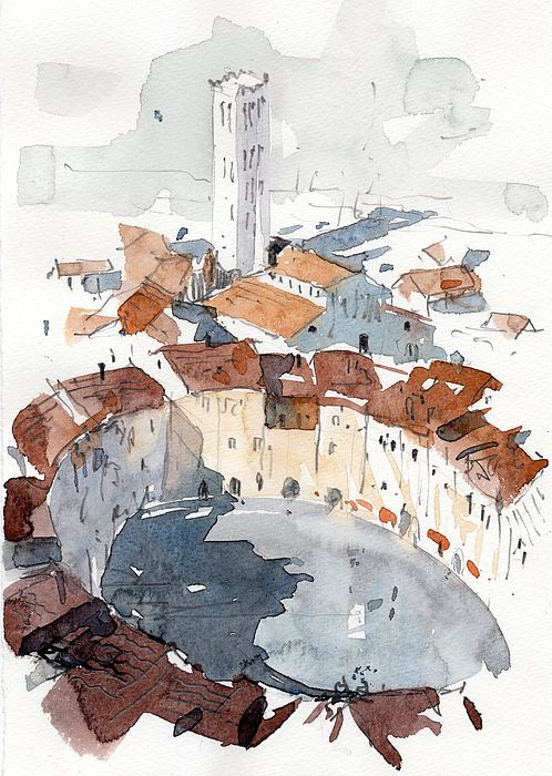 Lucca Italy 3 Print by Tony Belobrajdic
