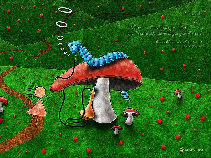 Alice in Wonderland - Advice From A Caterpillar by VladStudio