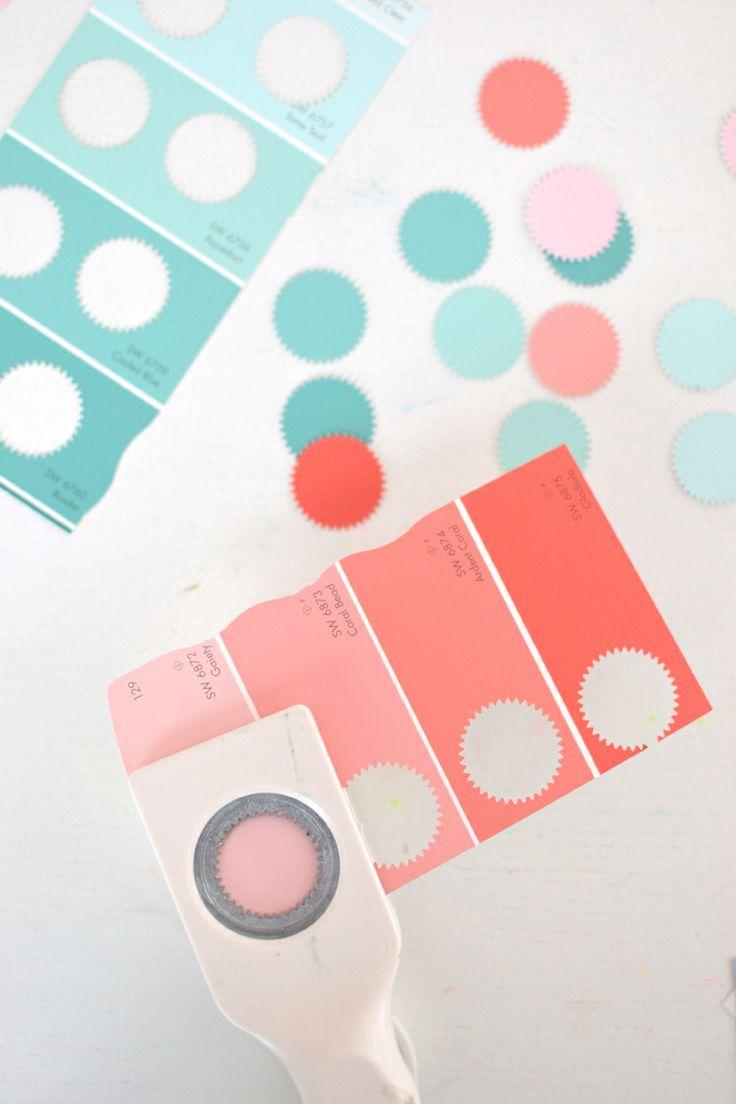 #DIY #Make #Garland #Slinger van kleurkaart | artbarblog