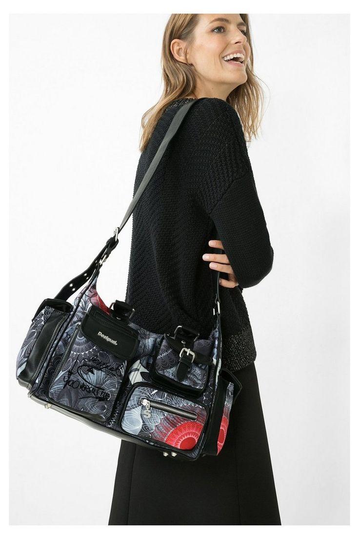 Zwarte tas Londen Medium Same | Desigual.com