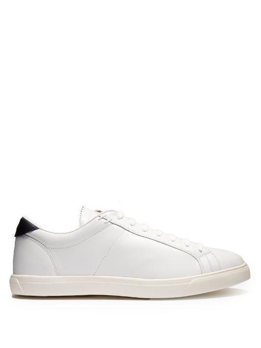 MONCLER La Monaco low-top leather trainers. #moncler #shoes #sneakers
