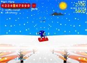 Sonic 3D Snowboarding   juegos de sonic - jugar online