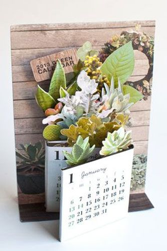 Greeting Life Inc., Fold Out Desktop Calendar 2013, $14, available at Omoi Zakka Shop