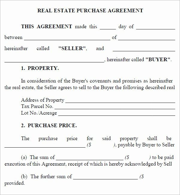 Free Real Estate Contract Template Elegant Real Estate Purchase Agreement 7 Free Pdf Download Real Estate Contract Purchase Contract Contract Template